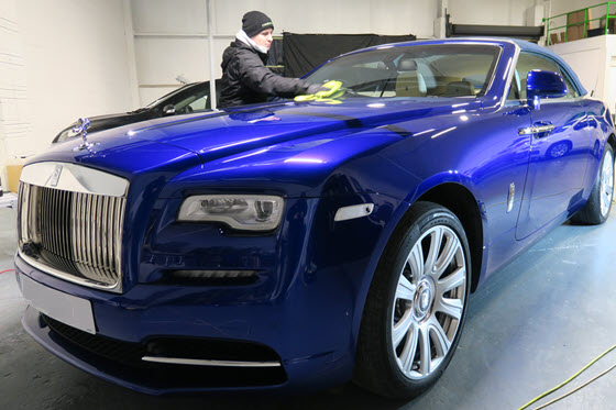 Blue Rolls Royce detailed at Premier Group