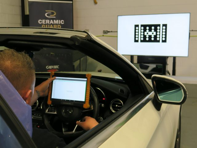 ADAS calibration being performed at Premier Group