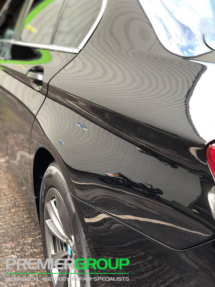 Repaired BMW car at Premier Group