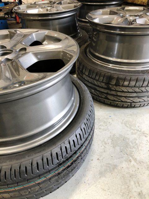 Alloy wheels in deep silver