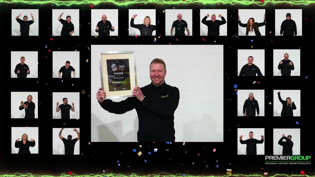 Screenshot of winning celebrations video